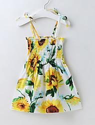 cheap -2021 amazon hot-selling girls dress ins hot new sunflower sling dress one drop shipping