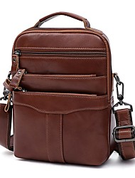 cheap -korean fashion men's messenger bag, large capacity leather men's bag, retro multifunctional single shoulder messenger bag, cross-border new style