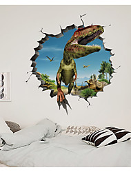 cheap -3D Broken Wall Dinosaur Park Children's Room Home Background Decoration Can Be Removed Stickers