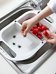 cheap -Folding Plastic Drain Basket Fruit and Vegetable Cleaning Filter with Handle Multifunctional Kitchen Quick Drying Storage Tools