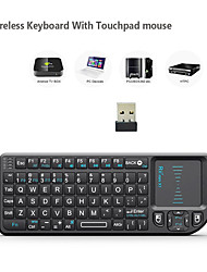cheap -original rii x1 2.4ghz mini wireless keyboard english/russian keyboard with touchpad for android tv box/mini pc/laptop