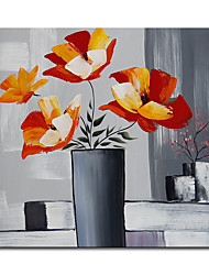 cheap -Mintura Large Size Hand Painted Abstract Flowers Oil Painting on Canvas Modern Pop Art Wall Pictures For Home Decoration (Rolled Canvas without Frame)