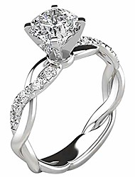 cheap -jesaisque silver ring bridal zircon diamond elegant engagement wedding band ring for bridesmaids& brides,valentine's day/birthday/engagement/anniversary jewelry gifts (silver, 10)