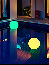 cheap -Outdoor Floating Pool Lights LED Luminous Inflatable Ball Light 1X 2X 6X RGB Color Changing Swimming Pool IP67 Waterproof Decor Light Water Float Light Party Night Light