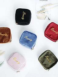 cheap -Velvet Lipstick Bag Portable Travel Hand Coin Purse Mini Small Cosmetic Bag Small Travel Storage Bag Make Up Bag