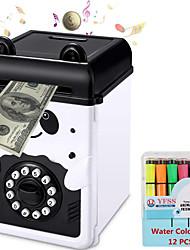 cheap -Cartoon Piggy Bank Cash Coin Can Password Electronic Money Bank Safe Saving Box ATM Bank Safe Locks Panda Smart Voice Prompt Money Piggy Box