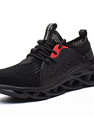 cheap -Breathable Lightweight Safety Shoes Steel Toe Cap Protective Working Shoes Men Women Mesh Trainners Puncture Proof Sneakers Black Grey Green