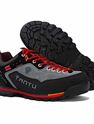 cheap -Men's Hiking Shoes Anti-Slip Wearable Breathable Comfortable Hiking Outdoor Exercise Running Spring, Fall, Winter, Summer Black / Red Black / Blue