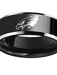 cheap -flystarjewelry philadelphia' american football eagles' ring black titanium steel rings for men women couple wedding engagement promise band (7)