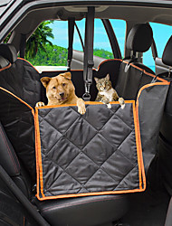 cheap -Dog Cat Pets Dog Cat Car Seat Cover Pet Backseat Cover Waterproof Washable Nonslip Solid Colored Classic Oxford Cloth puppy Small Dog Medium Dog Training Outdoor Driving Black