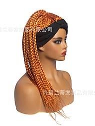 cheap -exclusively supply wigs, women's braid hair, chemical fiber, high temperature silk headscarf, wig headgear