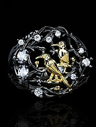cheap -Ring AAA Cubic Zirconia Two Stone Black Brass Bird Asian Unique Design Fashion 1pc 6 7 8 9 10 / Women's