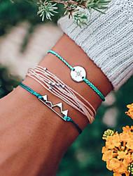 cheap -beaded bracelet mountains compass wax rope multi-piece female five-piece bracelet