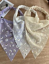 cheap -amazon bohemian triangle elastic rubber band hair band creative french retro romantic turban wholesale