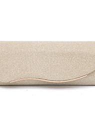 cheap -Women's Bags Polyester Clutch Evening Bag Solid Colored Glitter Shine Daily Wedding Party Handbags MessengerBag Black Champagne Gold Silver