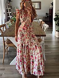 cheap -2020 summer cross-border women's sweet and light mature sleeveless floral dress