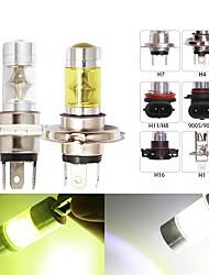 cheap -2pc H4 Led H7 H11 H8 H1 H3 9005 HB3 9006 HB4 Car fog light H16 P13W 5202 LED 12SMD Auto Driving Light DRL 4300k 6000k White