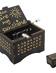 cheap -Music Box You are My Sunshine 1 pcs Gift Music & Light Vintage Laser Engraved Wooden For Kid's Adults' Boys and Girls