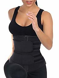 cheap -new adjustable waist trainer for women cincher sweat belt - large black