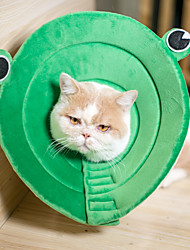 cheap -Dog Cat Pet Cone Pet Recovery Collar Elizabeth circle Adjustable Stress Relieving Safety Anti-Bite Lick Wound Healing After Surgery Protective Walking Animal Cotton Small Dog Green