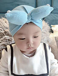 cheap -2019 autumn and winter european and american baby products baby rabbit ears knotted polyester cotton hedging hat indian hat children hat
