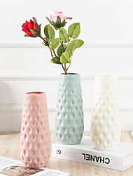 cheap -Artificial Flower Art Flower Vase Plastic Round Mouth Small Vase 1 Piece 7x8x23cm