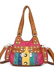 cheap -Women's Bags PU Leather Top Handle Bag Hobo Bag Date Office & Career Handbags Black Brown