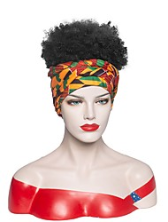 cheap -Headband wig new product headband turban wig europe and africa gradient color short short curly head synthetic wig