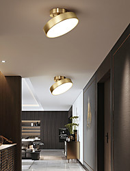cheap -LED Mini Ceiling Light Porch Light Corridor Light Modern Nordic Gold 12/20 cm Geometric Shapes Flush Mount Lights Classic Metal Stylish Electroplated LED Nordic Style 110-120V 220-240V