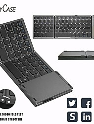 cheap -b033 three-system universal three-folding tablet phone computer with touchpad wireless bluetooth folding mini keyboard