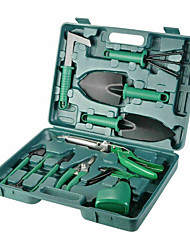 cheap -10pc Garden Tool Set Vegetable Flower Gardening Hand Tools Kits w/ Carrying Case