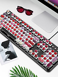 cheap -xinmeng k520 real mechanical lipstick keyboard net red punk retro laptop desktop keyboard