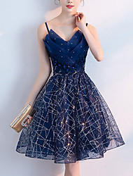 cheap -A-Line Sparkle Homecoming Cocktail Party Dress Strapless Sleeveless Short / Mini Polyester with Crystals Sequin 2021