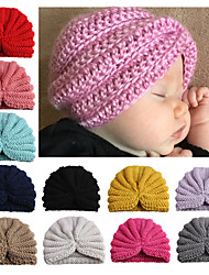cheap -new european and american solid color woolen children's hats, soft and comfortable baby hoods, children's accessories, baby products