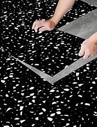 cheap -30*30cm 8pcs Creative Kitchen Bathroom Living Room Floor Stickers Non-slip Waterproof Wear-resistant Gravel Black Rock Terrazzo Floor Stickers
