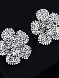 cheap -Women's Stud Earrings Drop Earrings Hoop Earrings Geometrical Flower Shape Stylish Artistic Vintage Trendy Sweet Earrings Jewelry Silver For Party Wedding Daily Holiday Festival 2pcs