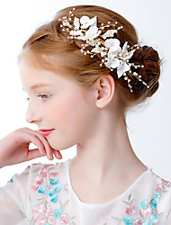 economico -accessori per abiti da principessa per bambini / bambine accessori per capelli da sposa per bambina con corona di fiori accessori per capelli ghirlanda laterale per ragazze copricapo di prestazioni