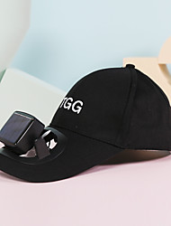 cheap -2021 Sunscreen Powered Fan Hat Summer Outdoor Sports Hat Sun Protection Cap With Solar Fan Bicycle Climbing Baseball Cap