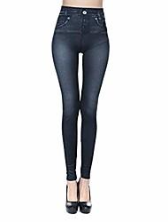 cheap -winsummer women's basic pocket stretch legging tights pants high waisted yoga capri pant plus size skinny pants black