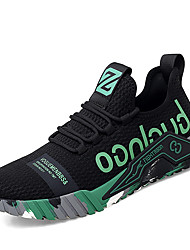 cheap -Men's Sneakers Sporty Casual Daily Office & Career Mesh Breathable Non-slipping Wear Proof Black Grey Black / Green Spring Summer
