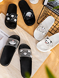 cheap -New Product Bathroom Slippers Female Frosted Transparent Pattern Brown Bear White Rabbit Sandals Inside And Outside Wear Sesame Black And White Women's Shoes Wholesale