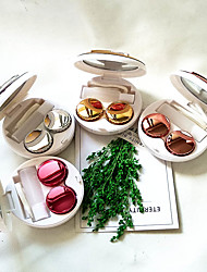 cheap -Eyes Care Container Cute Round Lens Case Mirror Travel Glasses Lenses Fashion Classic Box Kit Holder Marble Contact Lens Case