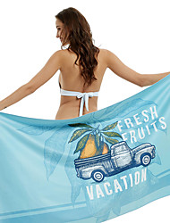 cheap -Summer Beach Towel, Microfiber Quick Drying Light Weight Printed Swimming Yoga Towel -160*80 Mermaid/Pineapple Holiday/Mango Holiday