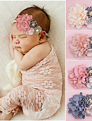 cheap -european and american children's headband, handmade fabric, newborn photo headwear, pearl flower combination, baby headband hair accessories