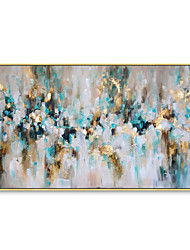 cheap -Gold Leaf Picture Art Hand Painted Modern Abstract Oil Painting On Canvas Wall Art For Living Room Home Decoration No Framed