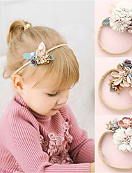 cheap -Kids Baby Girls' Sweet Daily Wear Floral Floral Nylon Hair Accessories White Blushing Pink Dusty Rose One-Size