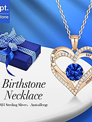 cheap -birthstone love lettering i love you diamond necklace twelve months fashion women's jewelry