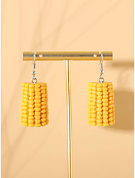 cheap -Women's Drop Earrings Earrings Dangle Earrings Simple Fashion Cute Resin Earrings Jewelry Yellow For Street Vacation Beach 1 Pair