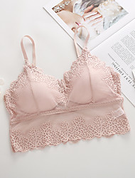 cheap -Women Lace Bra Sexy Tanks Top Bras Everyday Bras V Neck Camisole Bralette Underwear Sleepwear Tops Lingerie