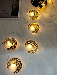 cheap -Eid Mubarak Moon String Lights Ramadan 1.5M 10LEDs Battery Operated Islamic Muslim Party Eid Home Garden Decoration Fairy Lights